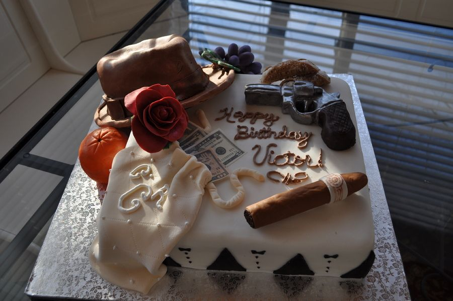 Godfather Theme Cake This Cake For A Friend Who Loves The - Godfather Wedding Cake