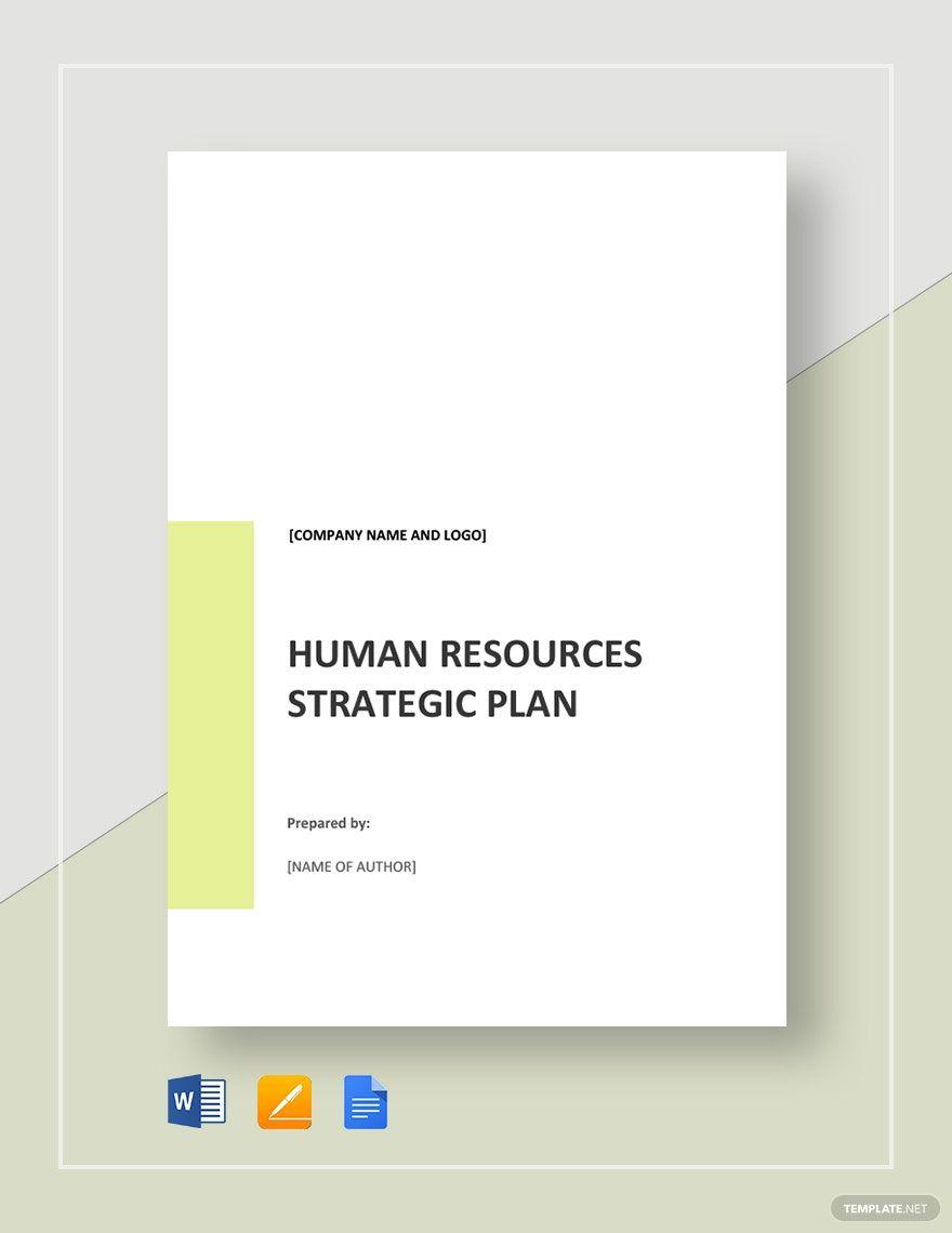 Hr Strategic Plan Template Free Pdf Google Docs Word Pdf Template Net Strategic Planning How To Plan Word Doc Microsoft word strategic plan template