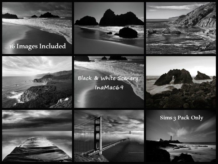 Scenery pictures color and black white by inamac69 sims 3 downloads cc caboodle