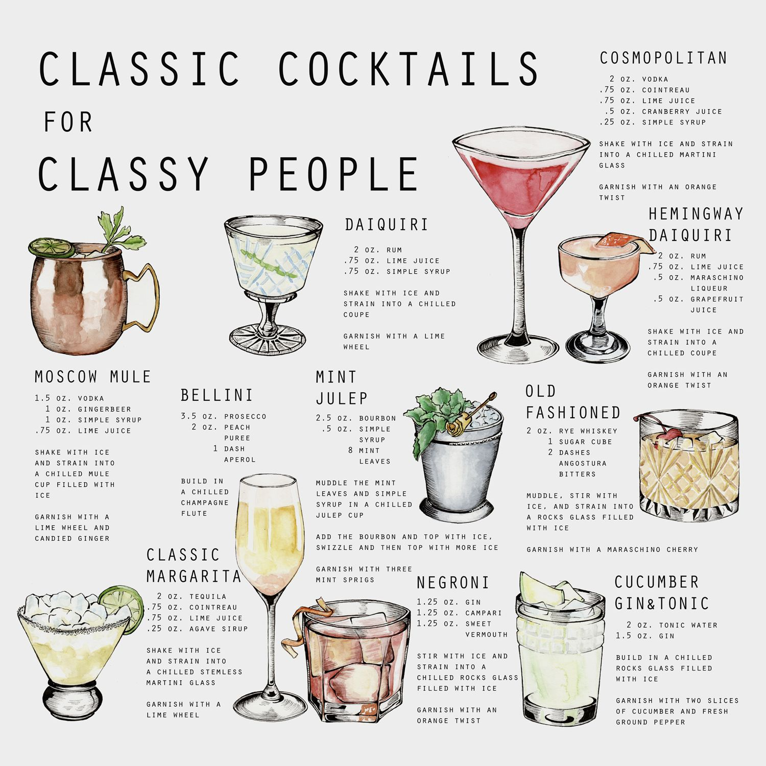 CLASSIC COCKTAILS, BY STINE NYGARD In 2019