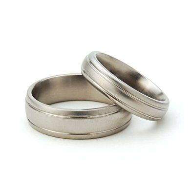 Titanium Rings For Him And Her Matching Wedding Rings Titanium