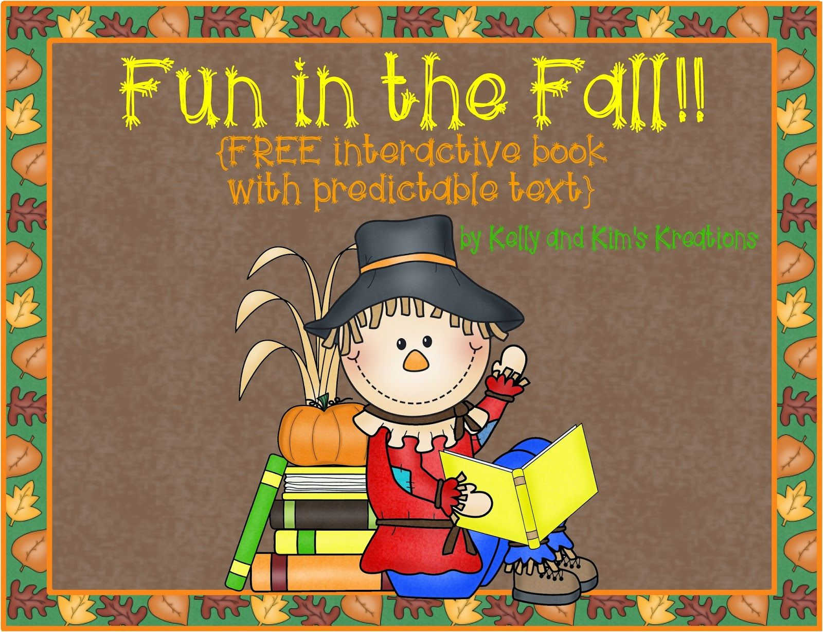Fun In The Fall Free Interactive Book With Predictable