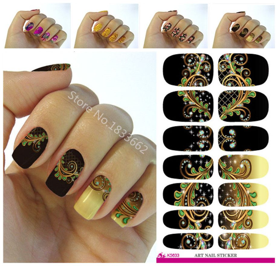 Fashion Nails Kunst Aufkleber Farbige Helle Kristall Design Nagel ...
