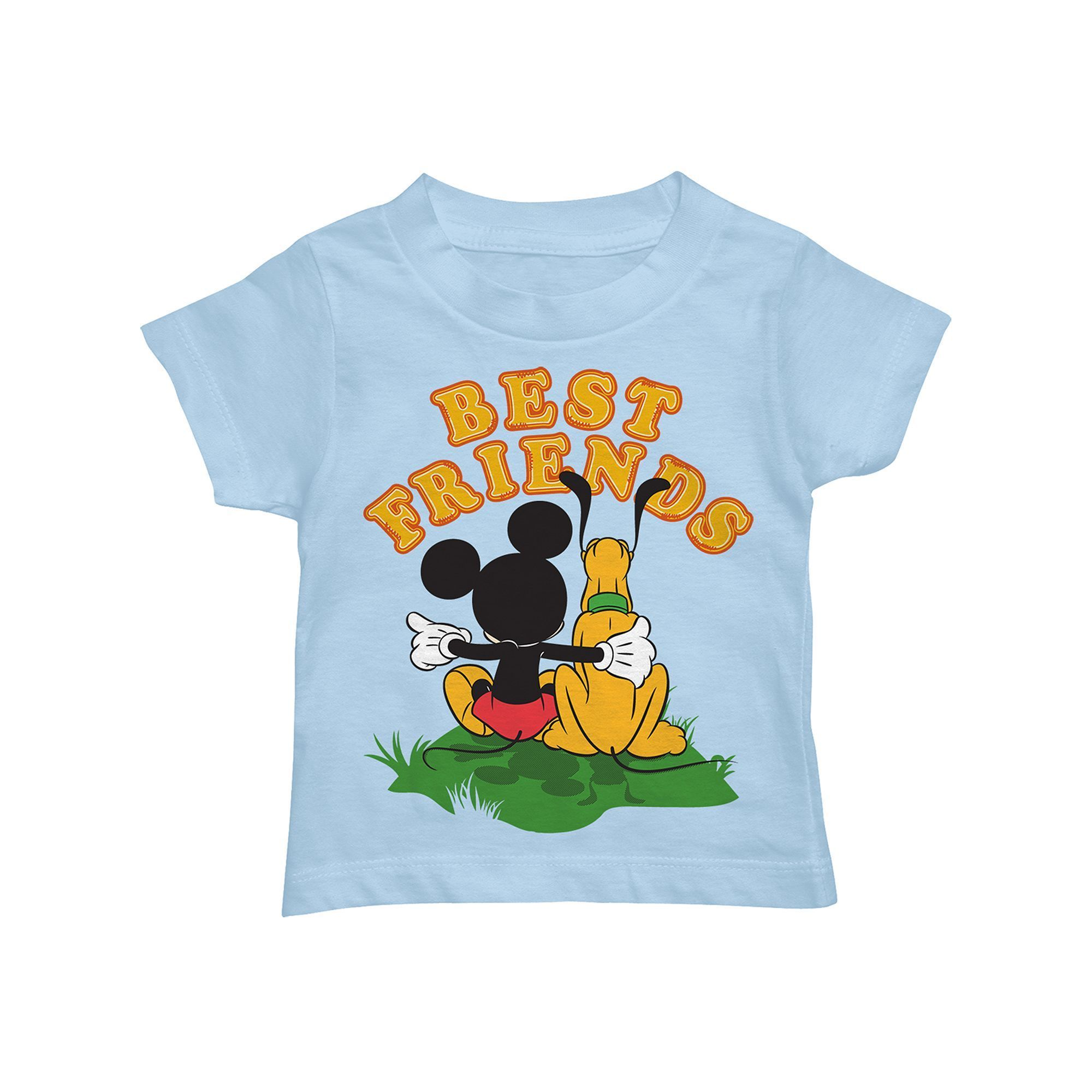 Disney Mickey Mouse Goofy Pluto and Donald Duck Tee T-Shirt Toddler Boy 3T 5T