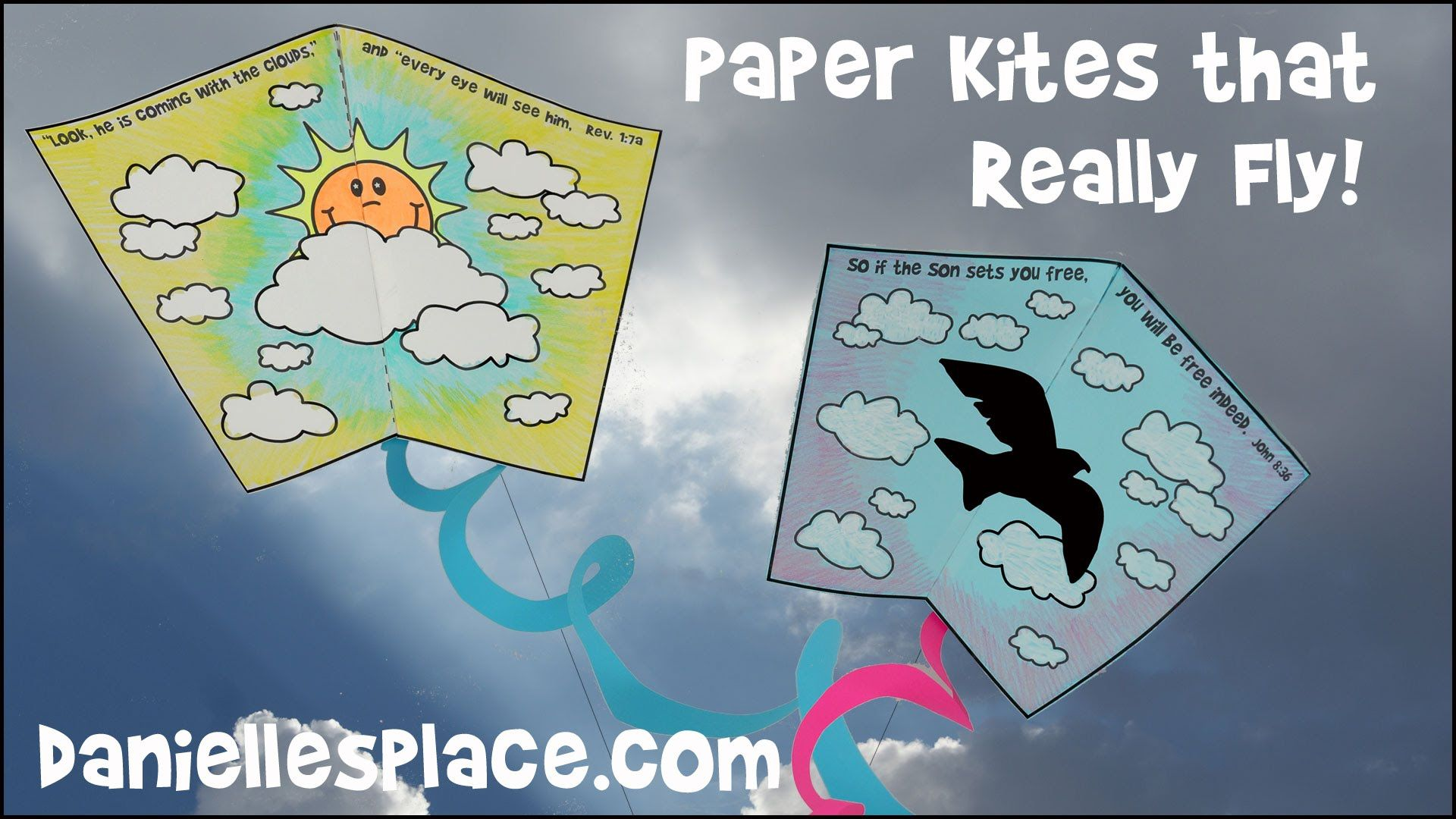 how to make a paper kite with children