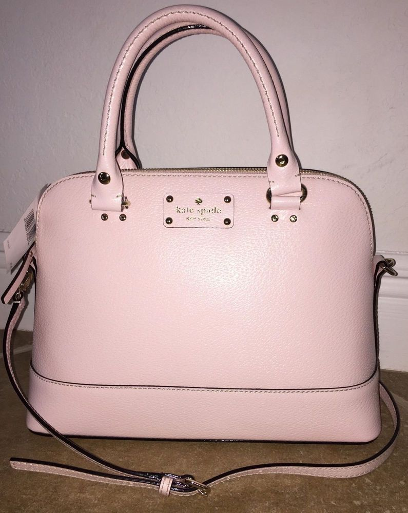 f02583a56ff6 NWT KATE SPADE RACHELLE WELLESLEY PINK BAG - AUTHENTIC -GORGEOUS PINK  LEATHER!!! #KateSpade #ShoulderBag