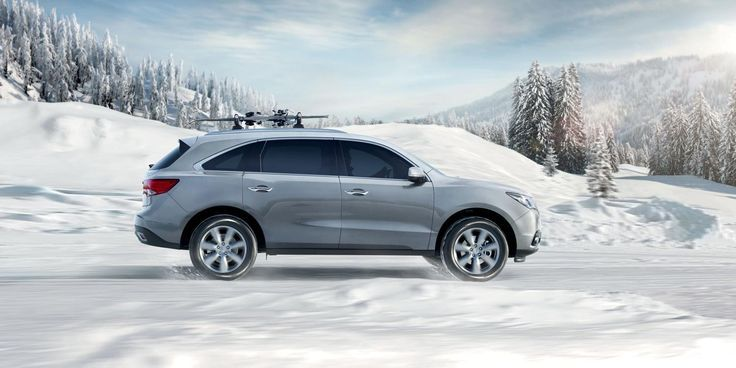 2017 Acura Mdx Silver Suv Exterior Side View Snow Driving