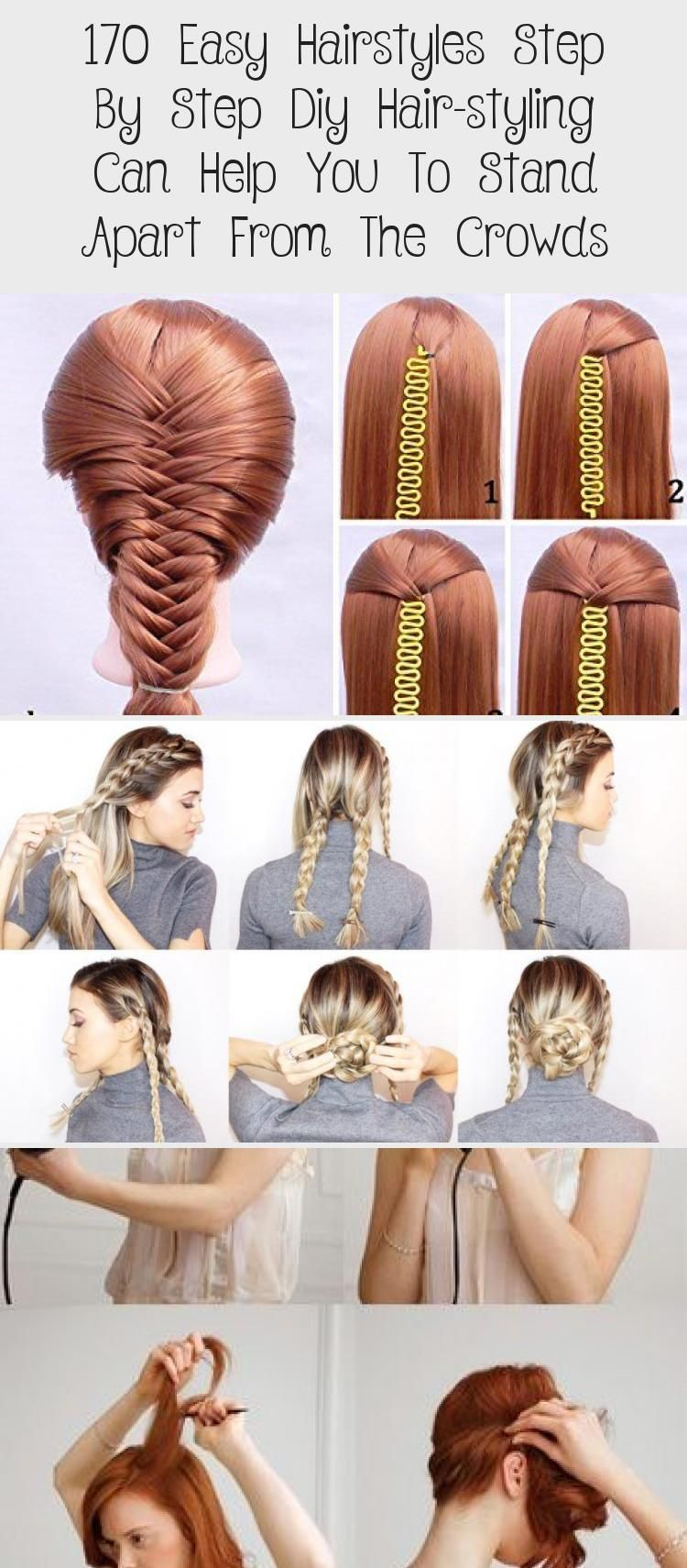170 Easy Hairstyles Step By Step Diy Hair Styling Can Help You To Stand Apart From The Crowds Page 83 My Beauty In 2020 Hair Styles Diy Hairstyles Easy Hairstyles