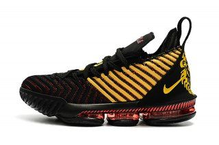 Nike LeBron 16 King Black Gold Red Men s Basketball Shoes James Shoes a9c213348
