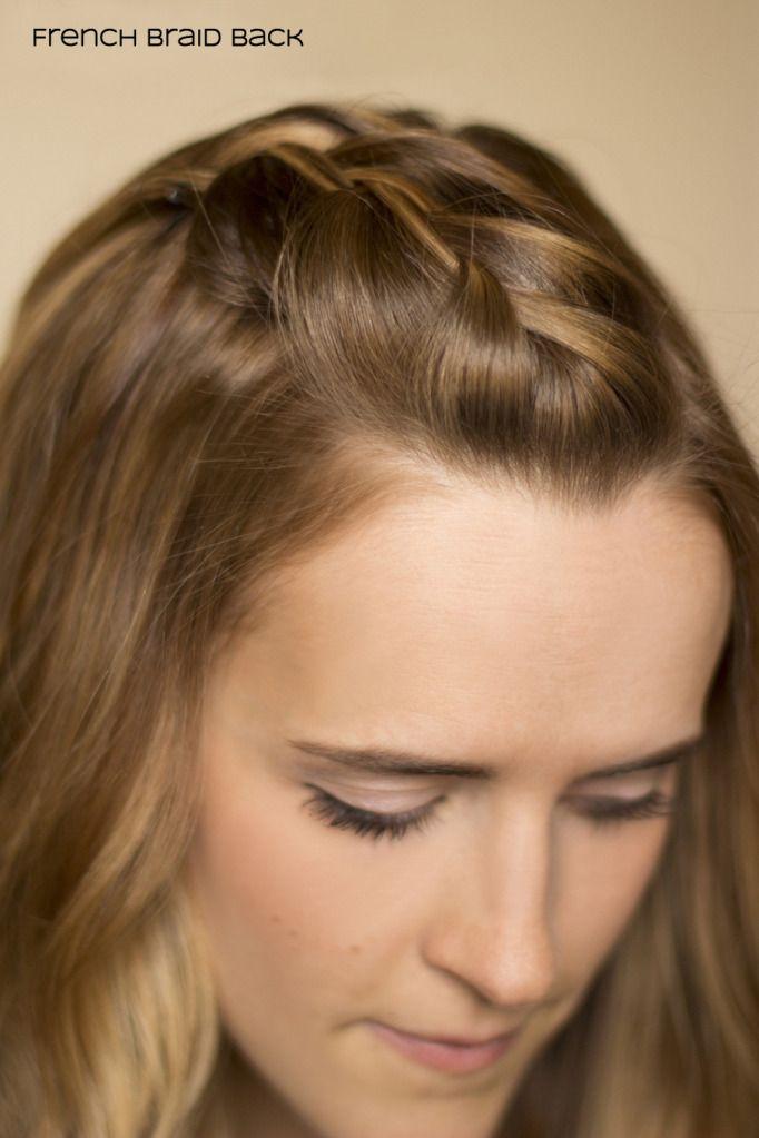 French Braid Bangs Straight Back Con Imagenes Peinados