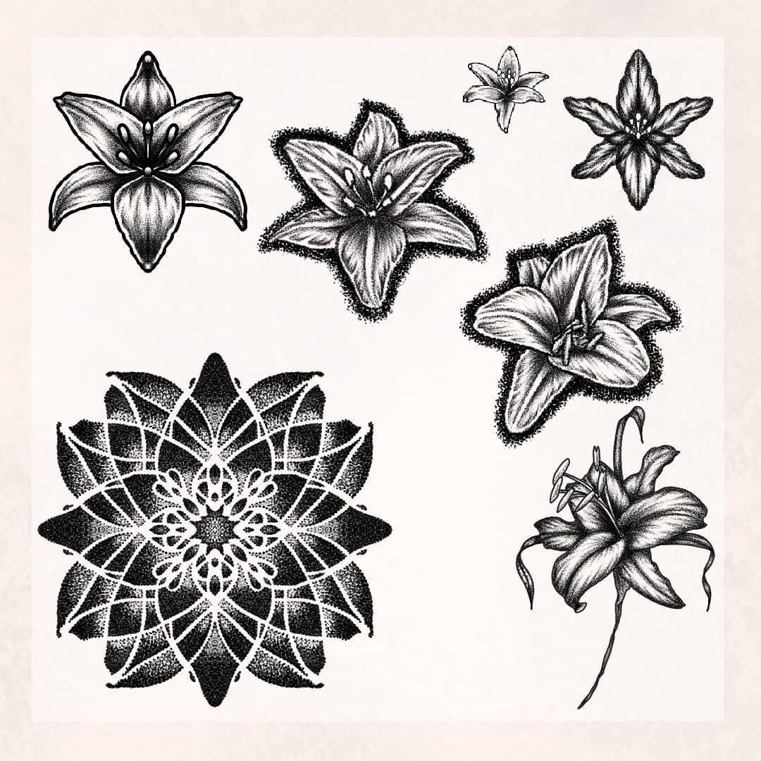 D'autres lys, tous ces motifs sont disponibles en petite tailles, certains seulement réalisable au HANDPOKE . Les prix varient entre 50€ et 150€ Dm pour plus d'informations 🖤 . . #tattoo #tattoos #tatouage #tatouages #flower #flowers #flowertattoo #flowerstagram #lily #lilyflower #lilytattoo #mandala #mandala_art #mandalatattoo #ornamentaltattoo #dotwork #dotworktattoo #whipeshading #blackwork #darkart #inked #inkedgirl #frenchtattoo #tattoofrance #reims #reimstattoo #reimstagram #instareims #i