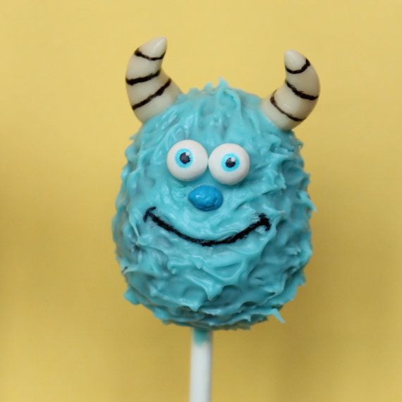 12 Cake Pops inspired by Disneys Monsters by SweetWhimsyShop