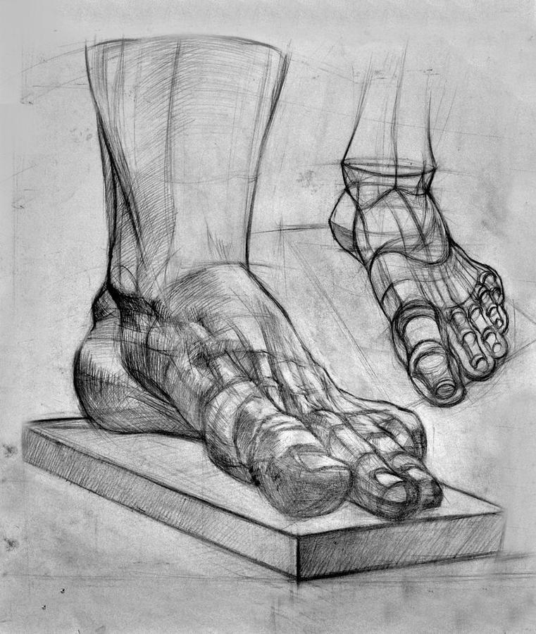 Нарисовать картинки ногой