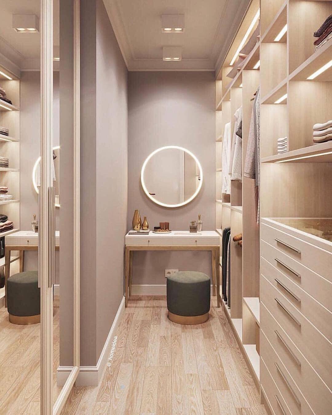 1 960 Curtidas 10 Comentarios Mf Arquitetura Interiores Arqmariaffernanda No Instagram Small Closet Design Dream Closet Design Walk In Closet Small