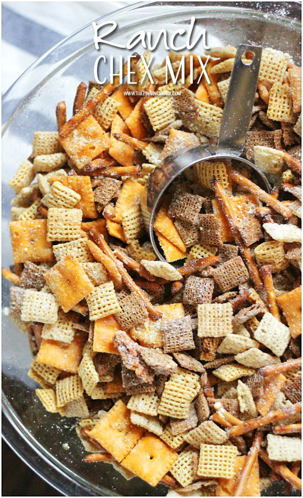 This ranch chex mix recipe  takes the traditional holiday snack to a whole new level!  Super easy to make too!
