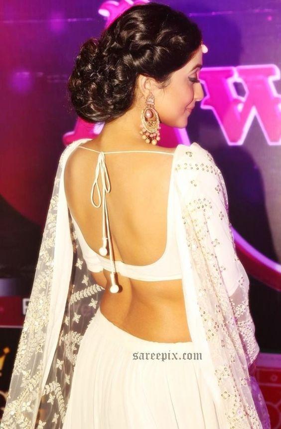 High Bun Hairstyle With Lehenga Google Search Hairdos Ghagra
