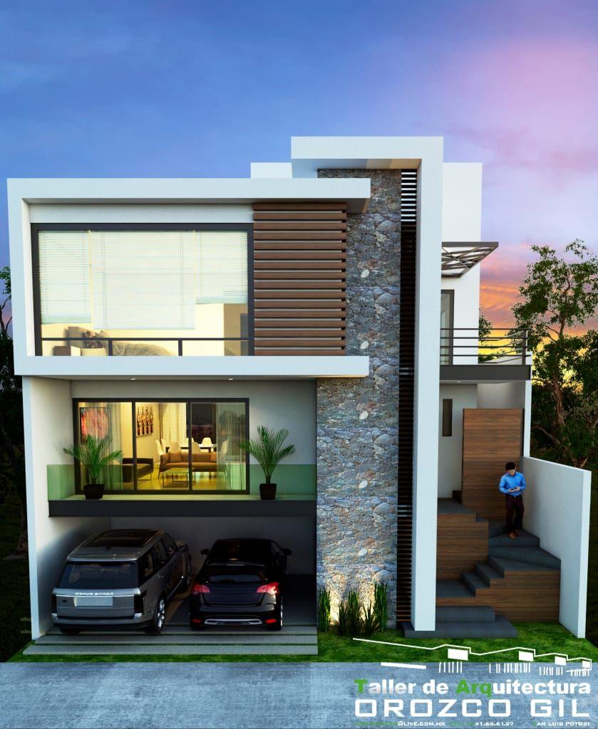 Casa cadena casas de estilo por orozco gil taller de for Casa minimalista 80 metros