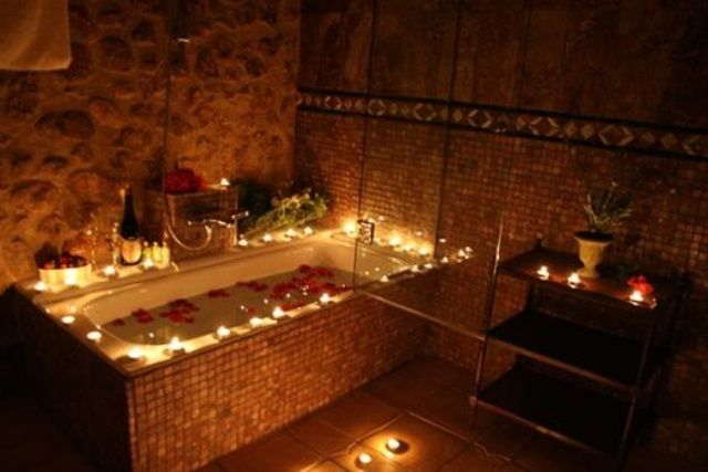 Bathroom Decorating Ideas With Candles valentine's day bathroom décor ideas | san valentín | pinterest
