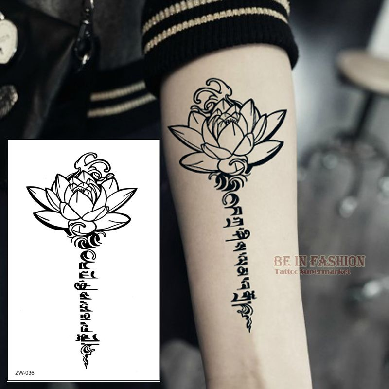 Henna Tattoo Prices : Aliexpress buy buddha lotus designs temporary tattoo