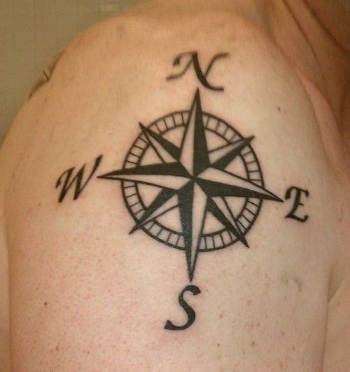 Compass Rose Tattoo Picture Shoulder Tattoo Ideas Tattoomagz Compass Tattoo Compass Tattoo Design Simple Compass Tattoo