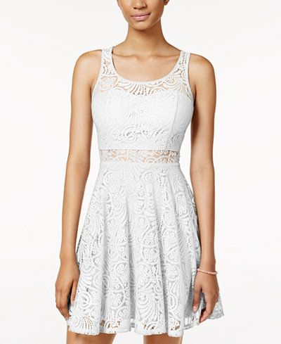 4c283d08e7a5 American Rag Lace Illusion Skater Dress, Only at Macy's | Fashion ...