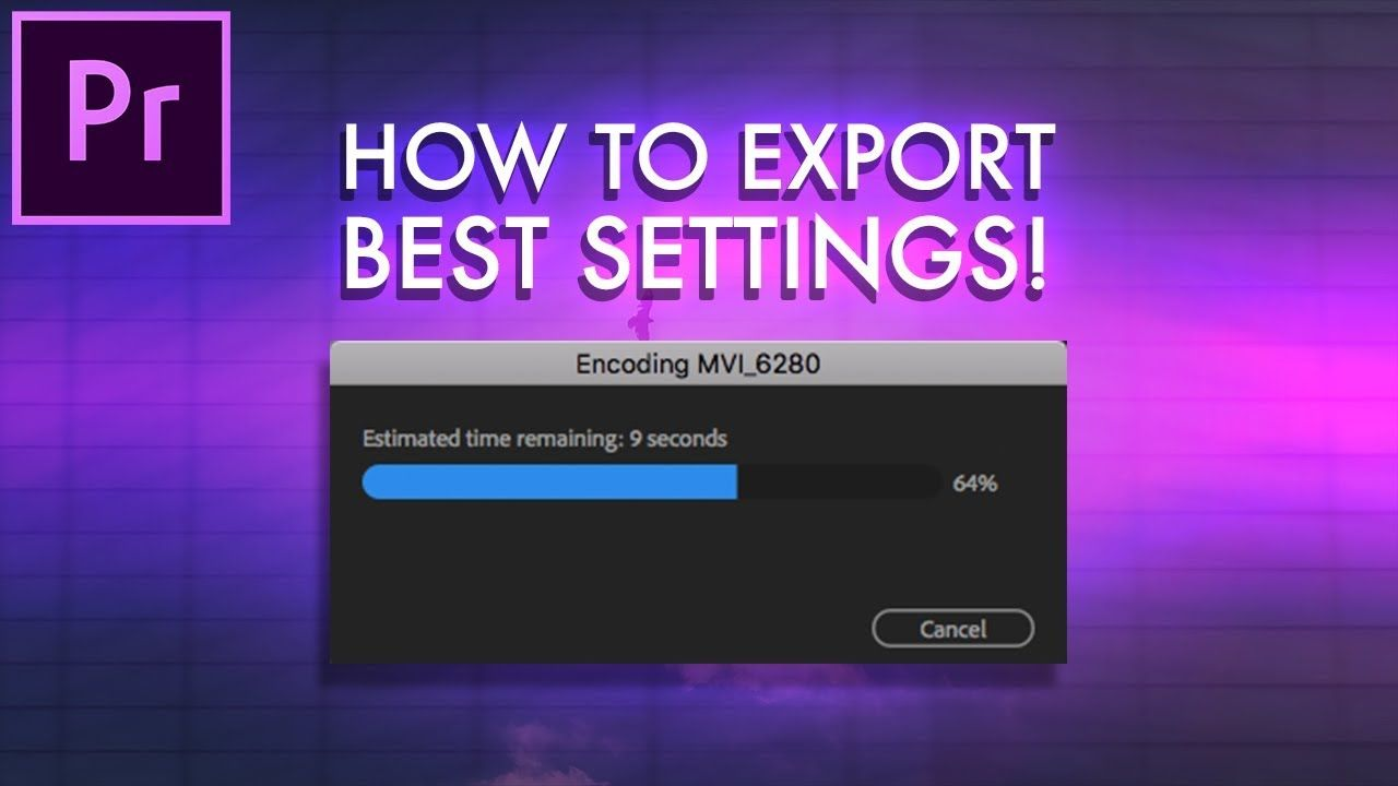 Instagram video export settings 2018