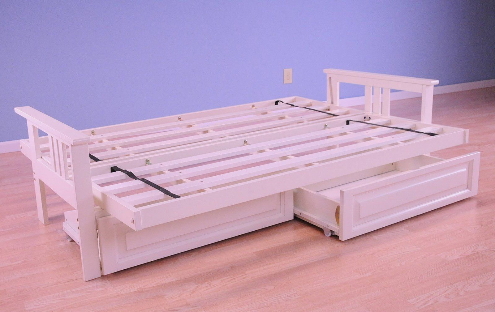 full drawer set monterey antique white futon peters cabin futon