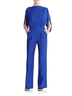 b456fc13d9905 Dezi Stretch Silk Jersey Jumpsuit