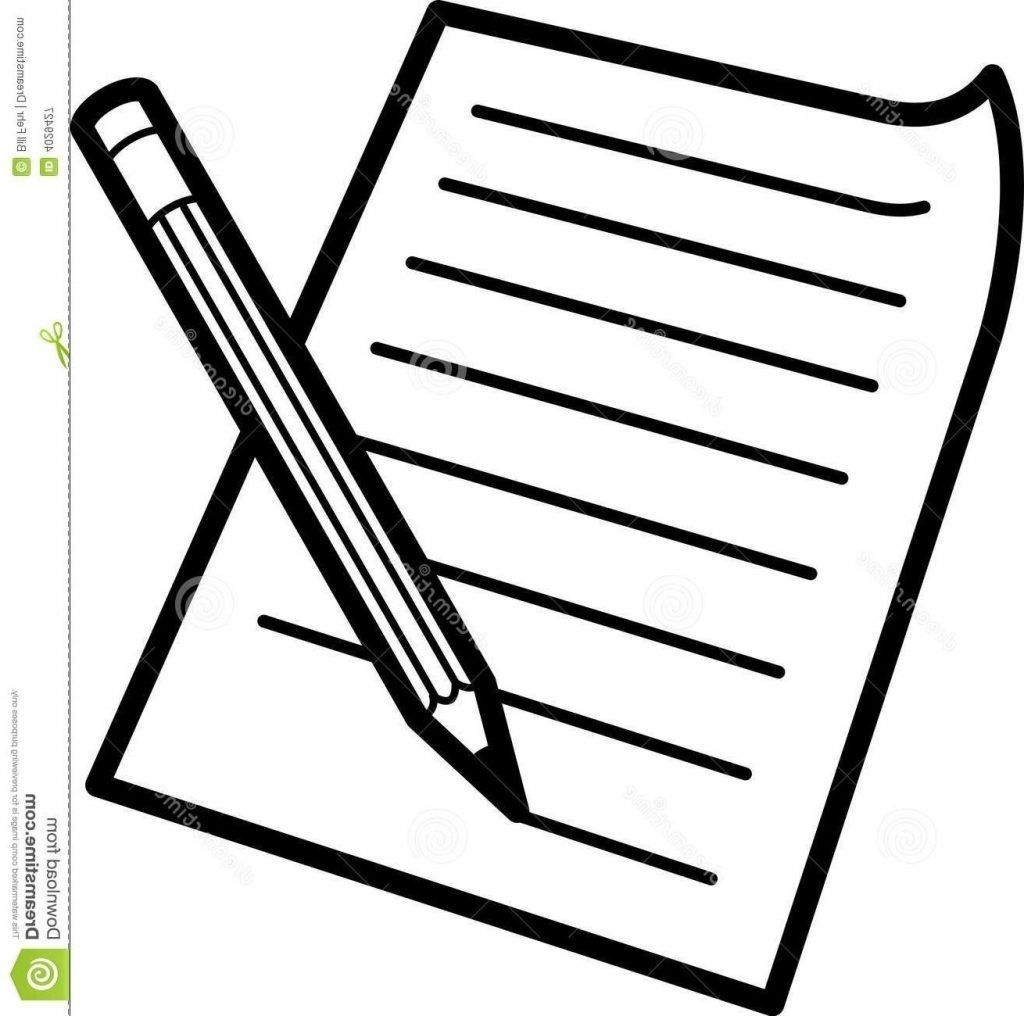 Paper Clipart Free Clipart Black And White Paper Clip Art Pencil Clipart