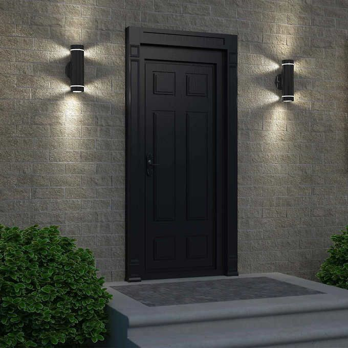 C7 Black Stainless Steel Cylinder Light Exterior Light Fixtures