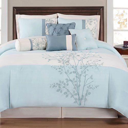 Charlee 12 Piece Comforter Set Spa Blue Comforter Sets Comforter Bedding Sets Bed Comforters