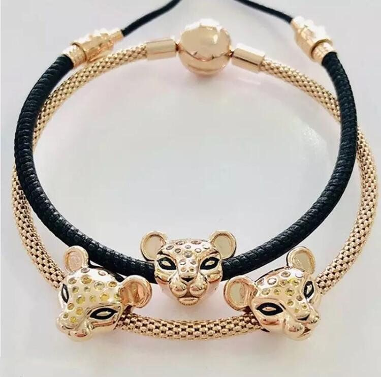 NEW Style 2019 Charm Rose sparkling Lion Princess 925 Silver