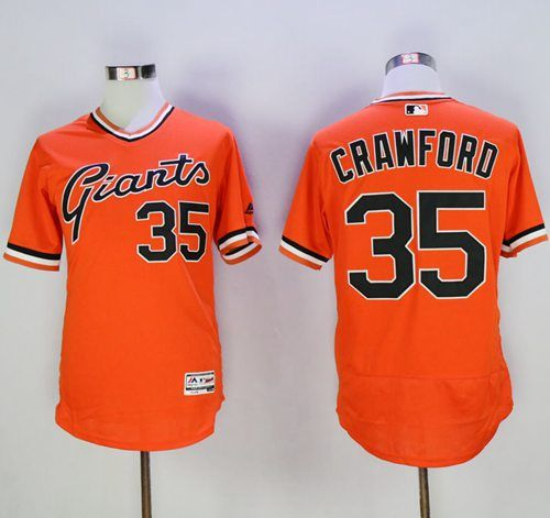dadaed0c Giants #35 Brandon Crawford Orange Flexbase Authentic Collection  Cooperstown Stitched MLB jerseys