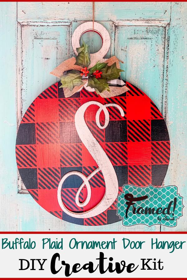 Photo of Buffalo Plaid Ornament Door Hanger DIY Creative Kit – Framed by Sarah DIY Holiday Home Decor