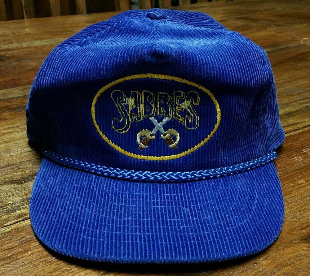 41597ba5f6b Vintage Buffalo Sabres Blue Corduroy Rope Cap Men s trucker Hat adjustable  sewn  Nissan  TruckerHat