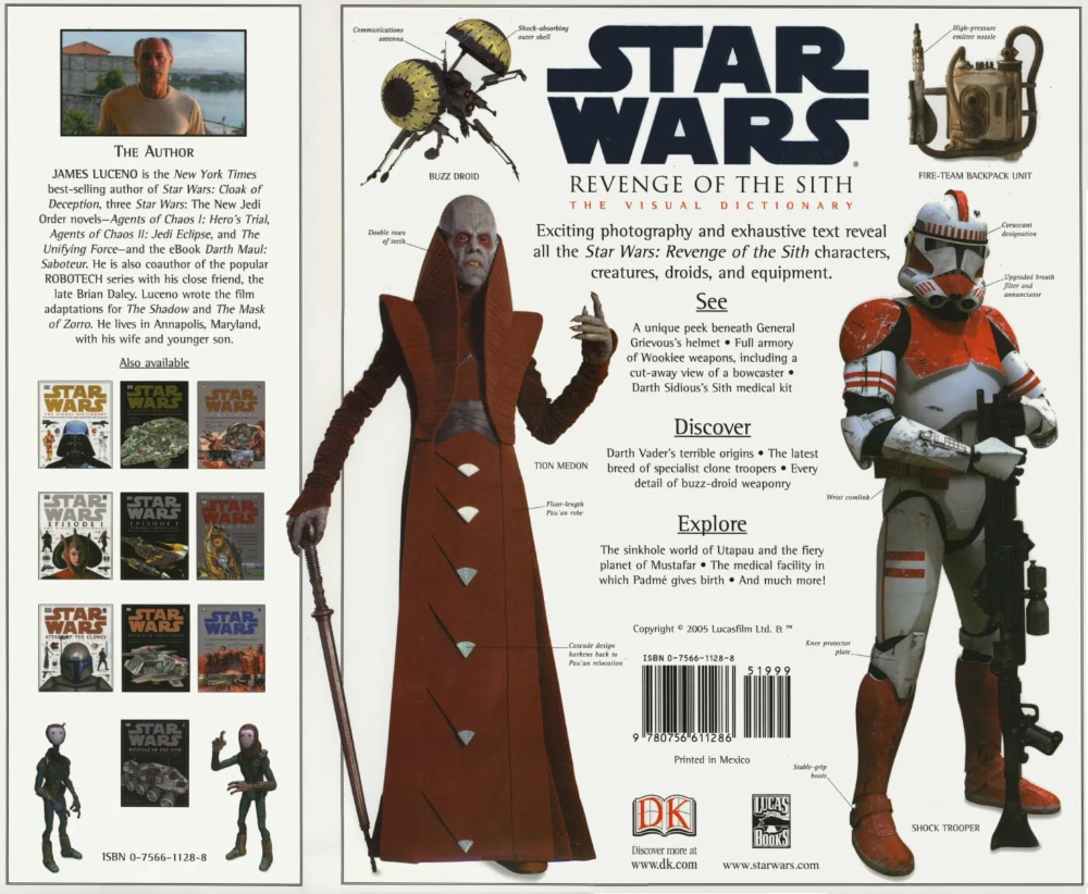 Star Wars Revenge Of The Sith The Visual Dictionary In 2020 Visual Dictionary Sith Revenge