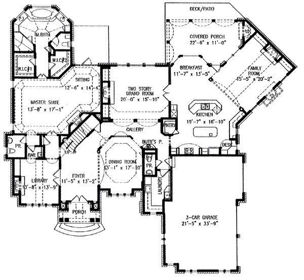European Style House Plan 4 Beds 4 5 Baths 4399 Sq Ft Plan 54 104 Country Style House Plans House Plans Floor Plan Design