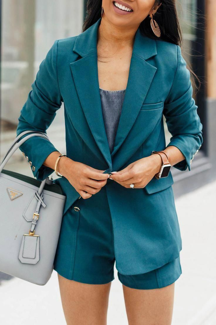 How to Wear A Short Suit & Rock It - Color & Chic #edgywomensfashion #MensFashionEdgy