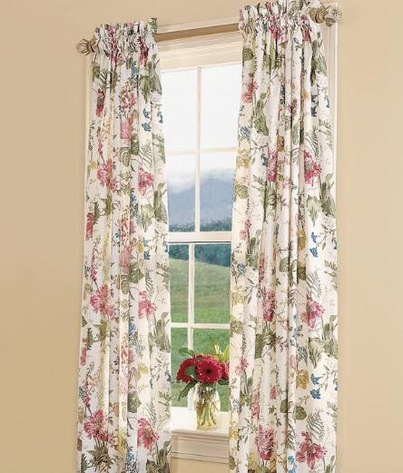 Cottage Garden Lined Rod Pocket Curtains Bedroom Ideas