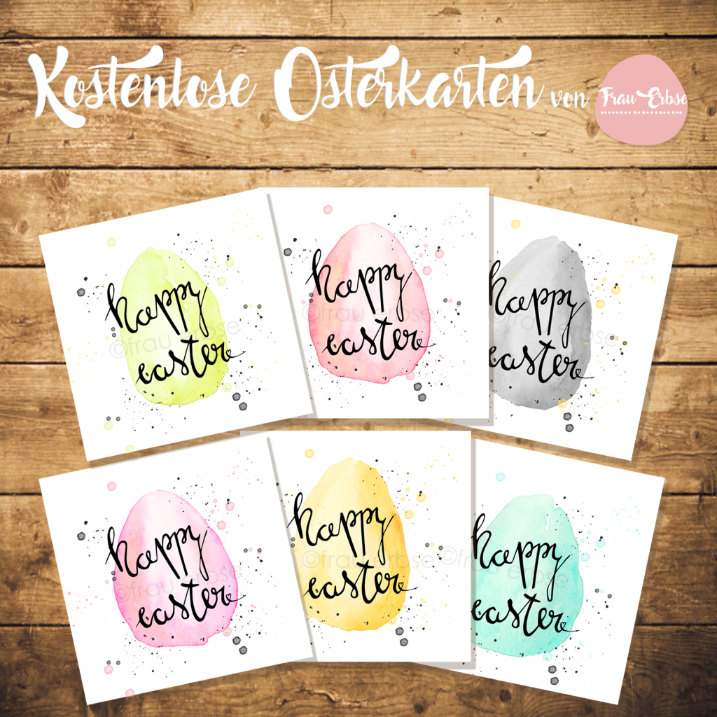 Photo of Freebie – Easter cards to print out