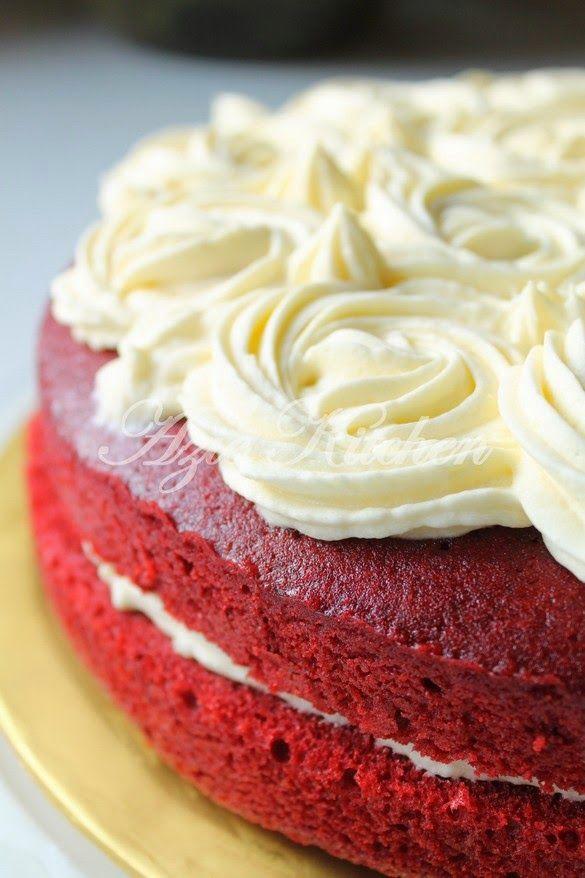 Azie Kitchen Kek Red Velvet Yang Gebu Dan Moist Cakes