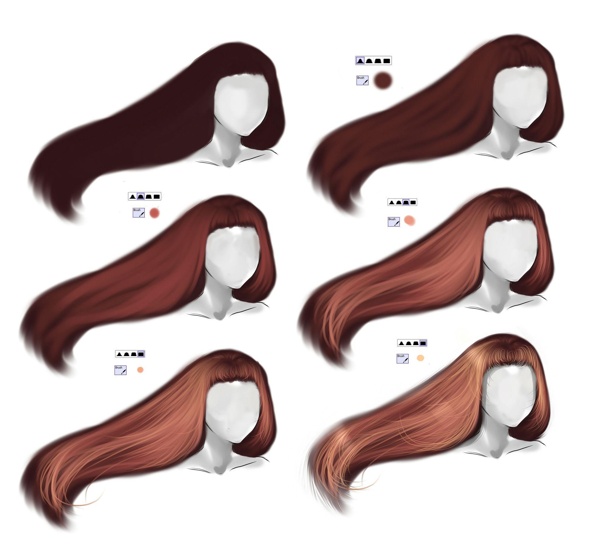 Hair Tutorial By Ryky On Deviantart Digital Painting Tutorials Digital Art Tutorial Hair Tutorial