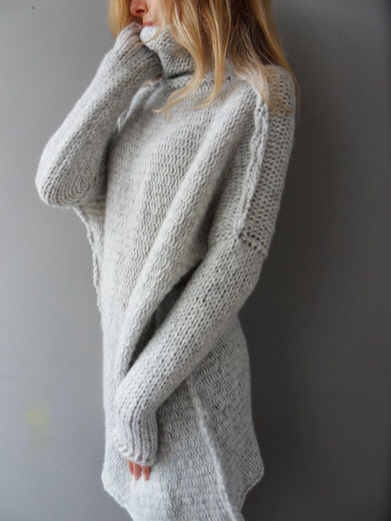 Oversized Chunky Knit Alpaca Woman Sweater