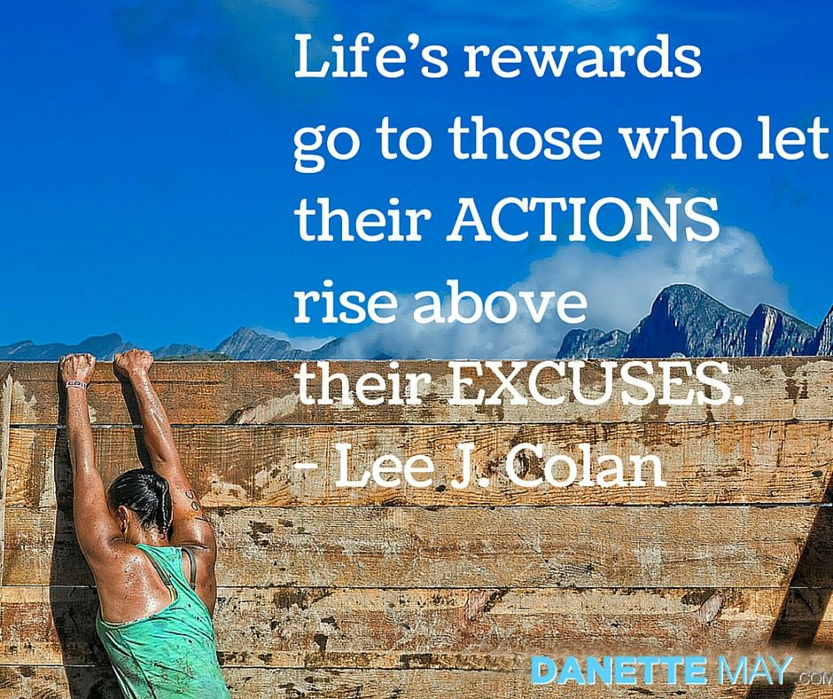 Actions than excuses!
