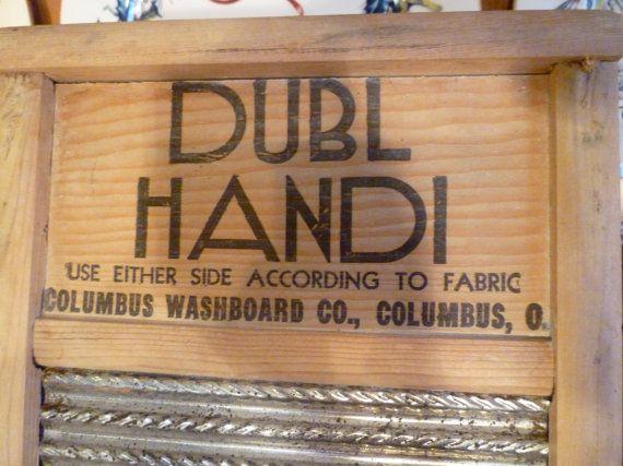 Vintage Dubl Handi Washboard Columbus Washboard Co by classy10