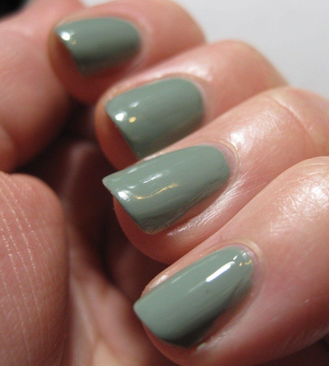 sage green nail polish style