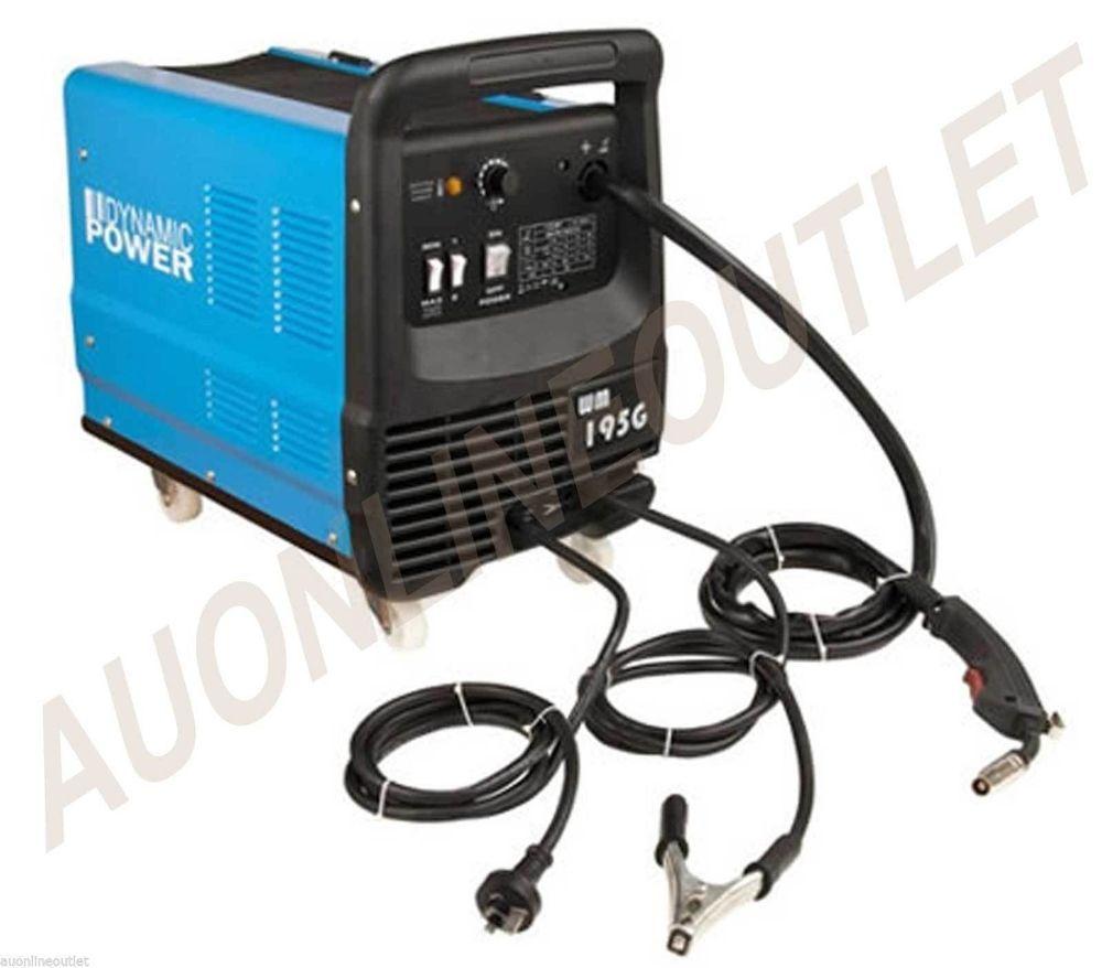 195 Amp MIG / MAG Gas / Gasless Welder Welding Machine Power Tool 15 ...