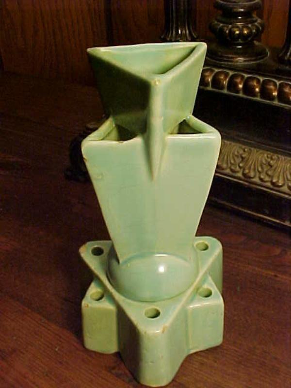Antique Vintage Art Deco Vase Art Deco Flower Frog Has Multiple