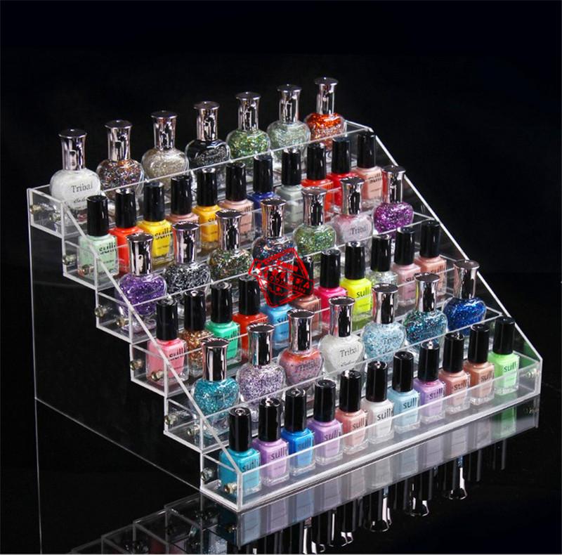 6 capas de plástico uñas transparente esmalte de estantes de la ...