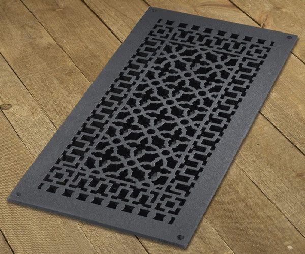 9x20 black aluminum renaissance cold air return vent cast iron for the home. Black Bedroom Furniture Sets. Home Design Ideas